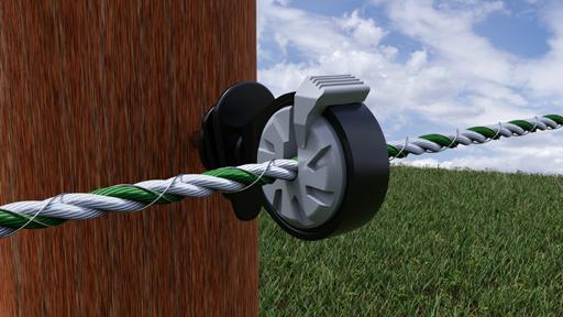 Locked-Insulator l'isolateur 100 % sécurité pour corde de clôture jusqu'à 6 mm